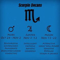 Scorpio- first decay