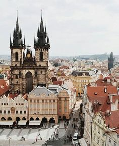 Old town view ~ Prague, Czech Republic https://www.instagram.com/p/BV_sCBKFqBr/?taken-by=living_europe