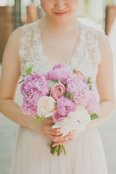 Soft and beautiful peony bouquet.