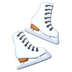 Figure Skates - handmade, paper-pieced embellishment set by A Scrap of Time Winter Fun, Winter Sports, Winter Snow, Ice Skating, Figure Skating, Snowman Clipart, Winter Clipart, Sports Party, Sports Toys