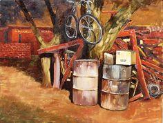 Kalahari Spaza by Rika De Klerk Oil ~ 62 cm. x 75 cm. Oil, Painting, Artists, Painting Art, Artist, Paintings, Butter