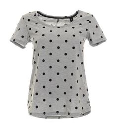 Maison Scotch t-shirt in een all over stip dessin - Grijs dessin - NummerZestien.eu