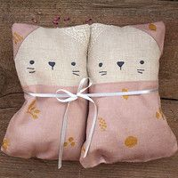 Cats - pillows filled with buckwheat and lavender.