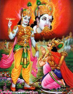 Lord Shri Krishna & Arjun - War of Mahabharat Kurushetra