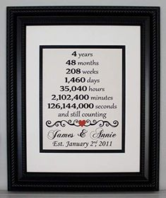 Second anniversary linen second year married anniversary any year linen print linen sign personalized anniversary usd) by appalachiancharmva 4 Year Wedding Anniversary, Second Anniversary, Anniversary Gifts For Husband, Anniversary Ideas, Thoughtful Gifts For Him, Relationship Gifts, Relationships, Couple Gifts, Sign
