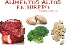 Alimentos ricos en hierro para anemia ferropenica