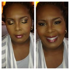 Bridal makeup, wedding makeup.  Bridal makeup for African American women.  Bridal makeup for black women and dark skin.  Makeup by J.McCullough Makeup Artistry in Houston,TX www.jerilynmccullough.com