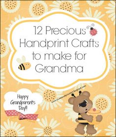 12 Handprint Ideas to make Grandma for Grandparent's Day - Fun Handprint Art