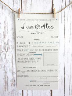 DIY Printable Custom Wedding Advice Card for the by WootandWooks
