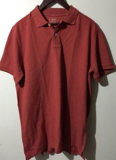 J. Crew Men's Pique Polo Shirt Sz XXL Red Orange NWT Short Sleeve 100% Cotton #JCrew #PoloRugby