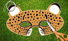 Cheetah Printable PDF Childrens Party Mask by theRasilisk on Etsy, $3.99