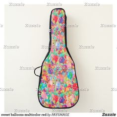 Shop sweet balloons multicolor red guitar case created by PAYSMAGE. Guitar Gifts, Guitar Bag, Happy Party, One Bag, Paint Designs, Personalized Gifts, Balloons, Cases, Sweet
