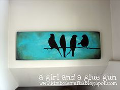 Diy canvas art, diy wall art, diy art, bird canvas, bathroom ca Bird Canvas, Large Canvas Art, Diy Canvas Art, Diy Wall Art, Diy Art, Painted Canvas, Canvas Ideas, Canvas Canvas, Painted Paper