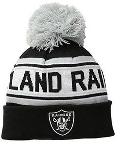 fbbd98c4 Oakland Raiders Cuffed Knit Hats Nfl Oakland Raiders, Pom Pom Hat, Knit Hats ,