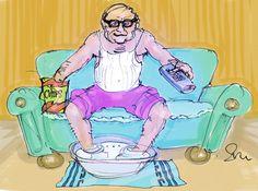 Illustration von Sven Piepkorn zum Reim über Fußgeruch