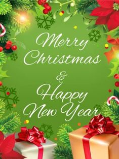 Christmas Plants & Presents Card Merry Christmas Images Free, Merry Christmas Message, Christmas Messages, Merry Christmas And Happy New Year, Christmas Pictures, Merry Xmas, Christmas Greetings, Holiday Wishes, Christmas Quotes