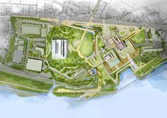 HAEAHN and Haenglim Take Second Place in KOMIPO Power Plant Design Competition,Site Plan. Image Courtesy of HAEAHN