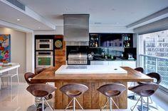 Decor Salteado - Blog de Decoração e Arquitetura : Cozinhas com ilhas – veja dicas + 30 modelos de ilhas de cocção e refeição maravilhosas!