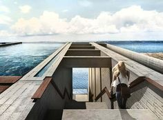 "wetheurban: "" CASA BRUTALE, OPA Designed by Holland- and Rhodes-based architects OPA (Open Platform for Architecture), this one-of-a-kind holiday villa has been proposed for construction in a cliff. Contemporary Architecture, Architecture Design, Concrete Architecture, Minimalist Architecture, Amazing Architecture, Haus Am Hang, Crazy Home, Futuristic Home, Cliff House"