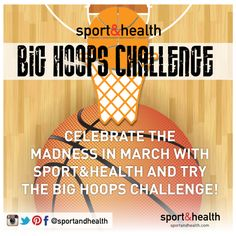 Take the Big Hoops Challenge at Sport&Health Monday & Tuesday, March 10-11th! Grab a trainer to time your two-person team. Your goal is to make a total of 5 baskets from 5 ft away. While one person is shooting the other is doing jump squats. Once one person makes a basket, switch positions. You'll rotate until a total of 5 baskets are made. Record your time on the leaderboard. Team with the best time wins!