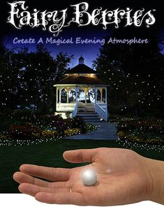 fairy berries glowing white led balls... This would be so pretty for an evening garden party...