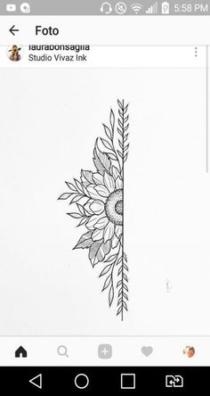 22 New Ideas tattoo sunflower mandala tat Sunflower tattoo – Fashion Tattoos Sunflower Mandala Tattoo, Sunflower Drawing, Sunflower Tattoos, Trendy Tattoos, New Tattoos, Tattoos For Guys, Female Tattoos, Side Tattoos, Tatoos