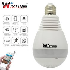 Find More Surveillance Cameras Information about CCTV Wifi IP Camera Wi fi Fisheye VR Panoramic Camera Bulb LED Light 960P 360 Degree VR Camera 1.3MP Home Security WiFi Monitor,High Quality monitor wifi,China monitor led light Suppliers, Cheap monitor light from WISTINO Franchise Store on Aliexpress.com