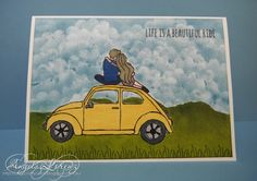 Angela Lorenz – Beautiful Ride - Occasions 2016. Click on picture to see more creations by Angela. Stampin Up. #stampinup #angelalorenz #beautifulride #sponging  #occasions2016 #papercraft  #handmadecards #handmade #sneakpeekoccasions2016 #sneakpeek