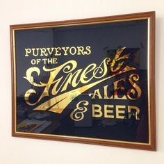 Typeverything.com - Traditionally gilded and hand painted real ale glass signby @ash_willerton