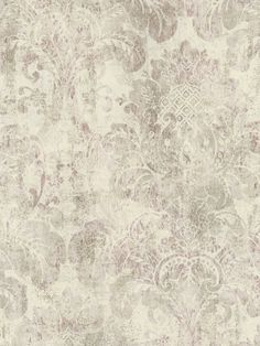 Cream Rustic Damask Wallpaper - Traditional Wallpaper