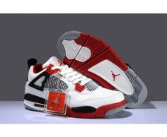 Real FAKE Nike Air Jordan 4 White Varsity Red Black Mens Basketball Shoes ! 84 Dol