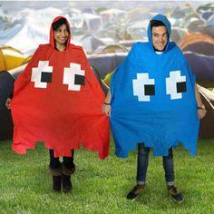 Retro-Regenschutz für stilbewusste Gamer: Pacman Ghost Regencapes