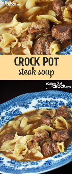 The whole family will love this delicious Crock Pot Steak Soup! This is also a healthy easy crock pot recipe for back to school dinner.