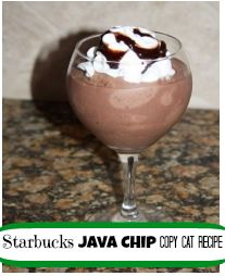 Copy Cat Recipe for Starbucks Java Chip or Double Chocolate Chip Frappuccino!!! - iSave A2Z