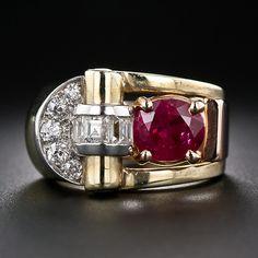 Retro Burma Ruby and Diamond Ring #TuscanyAgriturismoGiratola