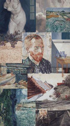 Aesthetic Pastel Wallpaper, Aesthetic Wallpapers, Good Vibes Wallpaper, Wallpaper Pictures, Wallpapers Funny, Pretty Wallpapers, Arte Van Gogh, Van Gogh Art, Aesthetic Indie