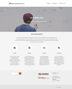 New website design for Autumn Leaf - an IT Company specialising in cloud solutions for their clients.