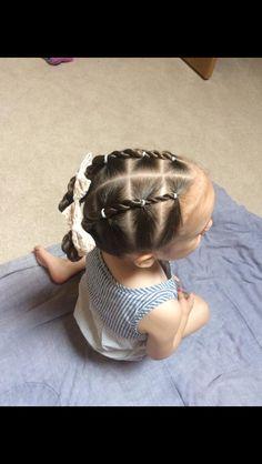Toddler twist elastic hairstyle