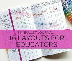 16 Bullet Journal Layouts for Educators – Pretty Prints & Paper