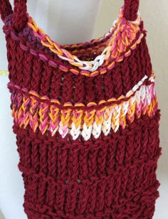 Loom Knitting Bag Patterns : 1000+ images about LOOM KNITTING-BAGS/TOTES on Pinterest Loom knit, Knittin...