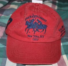 NWT Ralph Lauren Polo Mercer Classic Adjustable Strap Baseball Hat Adult Size