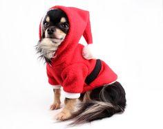 Santa Dog Costume Red Christmas Dog Hoodie Sweater by PetitDogApparel on Etsy https://www.etsy.com/listing/254830001/santa-dog-costume-red-christmas-dog