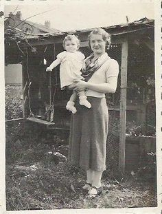 1930s French black and white photographie family people baby.  via Etsy.
