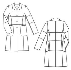 BurdaStyle 12-2012 #104  Line drawing for Pieced Coat