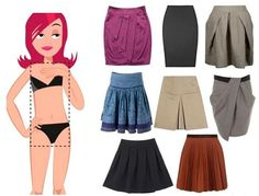 How to choose a skirt for your figure - a little bit of advice with pictures Triangle Body Shape, Inverted Triangle Body, Rectangle Shape, Body Type Clothes, Athletic Body Types, Body Shapes, Personal Style, Casual, My Style