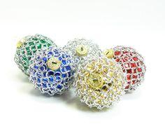 Chain mail Christmas balls