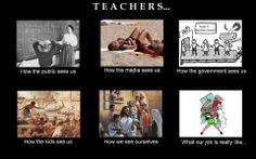 Tja, leraren. Het beeld en de werkelijkheid.