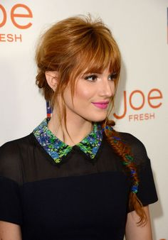 Bella Thorne's pretty way to do a braid for spring (there are ribbons in there!)