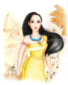 Pocahontas From Disney by areemus.deviantart.com on @DeviantArt