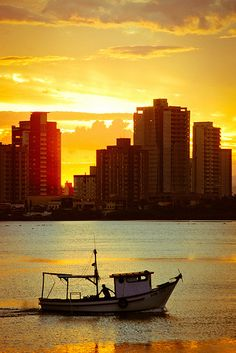 Enjoy the sunset as you sail on the Itajai, Santa Catarina, Brasil. #Travel #Sunset #Itajai #Brasil